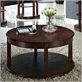 Steve Silver Company Crestview Round Spinning Cocktail Table in Espresso Finish