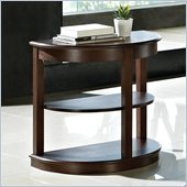 Steve Silver Company Crestview Chairside End Table in Espresso Finish