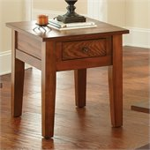 Steve Silver Company Desoto End Table in Dark Oak Finish