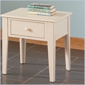 Steve Silver Company Eva End Table in Multi-Step White Finish