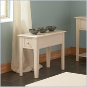 Steve Silver Company Eva Chairside End Table in Multi-Step White Finish