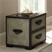 Steve Silver Company Rowan End Table in Weathered Gray Finish