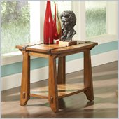 Steve Silver Company Harrison End Table in Oak Finish