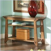 Steve Silver Company Harrison Sofa Table in Oak Finish
