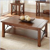 Steve Silver Company Rosewood Cocktail Table in Chestnut Finish