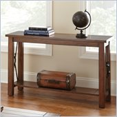 Steve Silver Company Rosewood Sofa Table in Chestnut Finish
