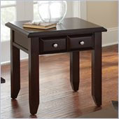 Steve Silver Company Murphy End Table in Multi-Step Rich Espresso