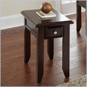 Steve Silver Company Murphy Chairside End Table in Multi-Step Rich Espresso