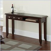Steve Silver Company Murphy Sofa Table in Multi-Step Rich Espresso with Inset Glass