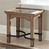 Steve Silver Company Levante End Table in Hand Rubbed Tobacco Finish