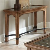 Steve Silver Company Levante Sofa Table in Hand Rubbed Tobacco Finish