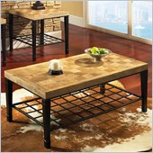 Steve Silver Company Belize Cocktail Table in Light Oak Veneers