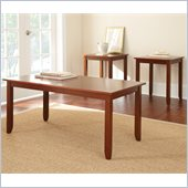 Steve Silver Company Angel 3 Pack Occasional Cocktail and End Tables Set in Cherry