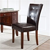Steve Silver Company Montibello Parsons Chair with Dark Brown Vinyl Upholstery