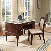 Steve Silver Company Marseille Marble Top Writing Desk