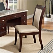 Steve Silver Company Marseille Side Chair with Cream Vinyl Upholstery