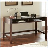 Steve Silver Company Lamar Writing Desk in Classic Espresso with Glass Surface