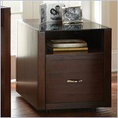 Steve Silver Company Lamar File Cabinet in Classic Espresso with Glass Surface