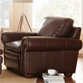 Steve Silver Company Yosemite Leather Chair in Chestnut