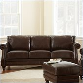 Steve Silver Company Biltmore Leather Sofa in Cocoa Brown