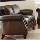 Steve Silver Company Biltmore Leather Loveseat in Cocoa Brown