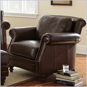 Steve Silver Company Biltmore Leather Chair in Cocoa Brown