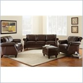 Steve Silver Company Biltmore 4 Piece Leather Sofa Set in Cocoa Brown