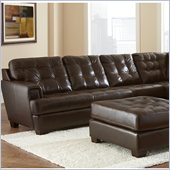 Steve Silver Company Soho Leather Sofa in Ebony Brown