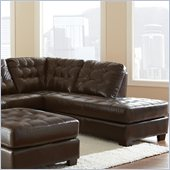 Steve Silver Company Soho Leather Chaise in Ebony Brown