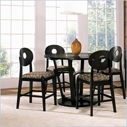 Steve Silver Company Optima 5 Piece Counter Dining Table Set in Black