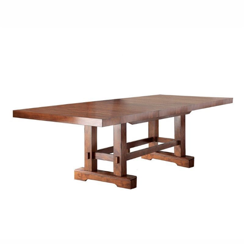 Steve Silver Zappa Dining Table with 18 Leaves in Medium Cherry