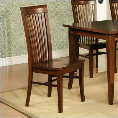 Steve Silver Company Angel Wood Casual Dining Side Chair in Espresso Finish
