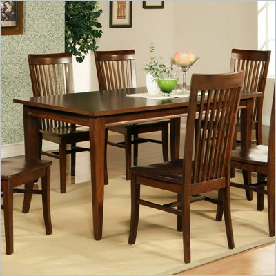 Steve Silver Company Angel Rectangular Casual Dining Table in Espresso Finish