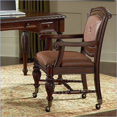 Steve Silver Company Antoinette Office Arm Chair in Distressed Cherry Finish