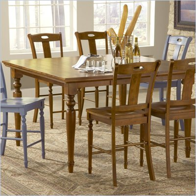 Steve Silver Company Barbados Counter Height Dining Table in Honey Oak Finish