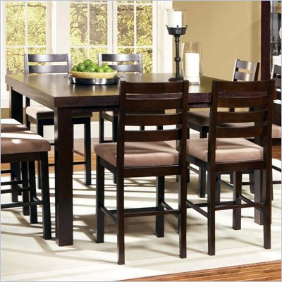Steve Silver Company Boulevard Counter Height Dining Table in Dark Merlot