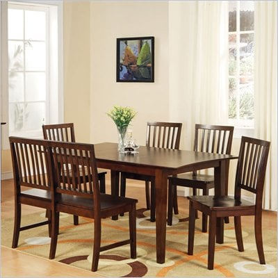 Steve Silver Company Branson 7 Piece Dining Set in Espresso