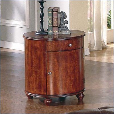 Steve Silver Company Brewster Barrel End Cherry Table