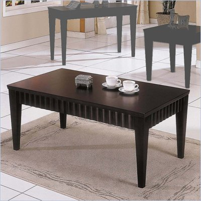 Steve Silver Company Burton Rectangular Wood Top Coffee Table in Espresso
