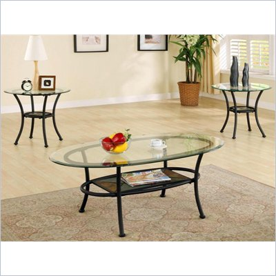 Steve Silver Company Carolyn 3 Piece Coffee Table Set
