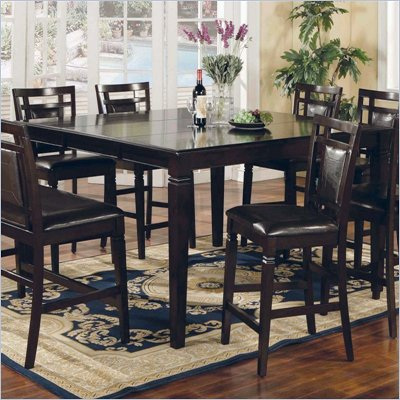 Steve Silver Company Deluca Square Counter Height Dining Table in Dark Merlot