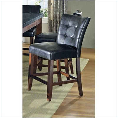 Steve Silver Company Granite Bello Counter Parsons Chair in Black