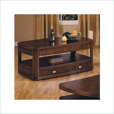 Steve Silver Company Isabelle Rectangular Wood Top Coffee Table in Cherry Finish