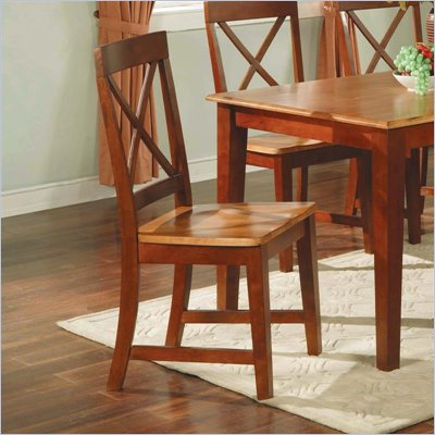 Steve Silver Company Kingston Wood Dining Side Chair in Cherry