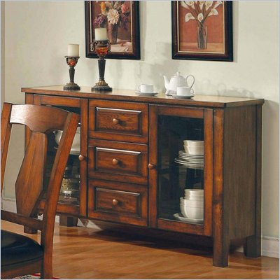 Steve Silver Company Lakewood Rich Oak Server