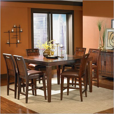 Steve Silver Company Lusaka 7 Piece Counter Height Dining Set (Free Chair Included)