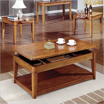 Steve Silver Company Manor Light Oak Coffee Table And End Table 3-Piece Set