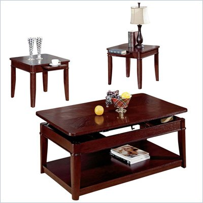 Steve Silver Company Manor Dark Oak Coffee Table And End Table 3-Piece Set
