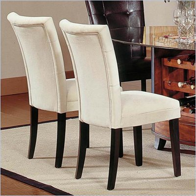 Steve Silver Company Matinee Fabric Dining Parson Chair in Beige