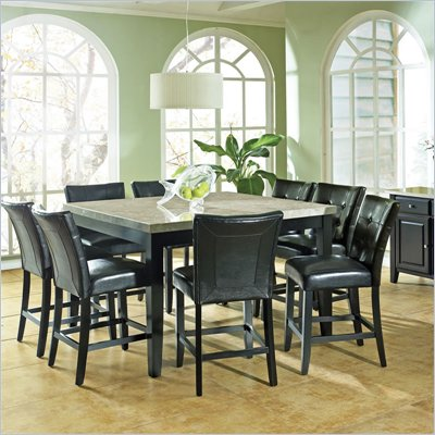 Steve Silver Company Monarch 7 Piece 54 Inch Counter Height Dining Set (Free Chair Included)